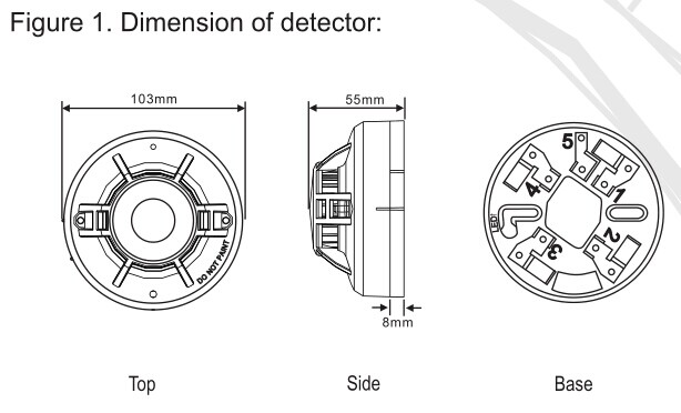 Conventional Heat Detector:WT105