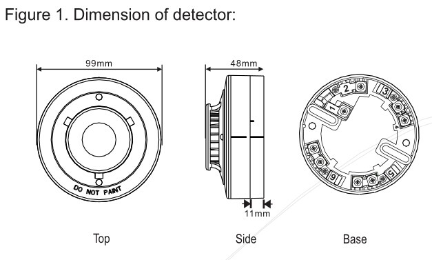 Conventional Heat Detector:WT105C
